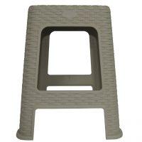 scaun imitatie ratan crem 1