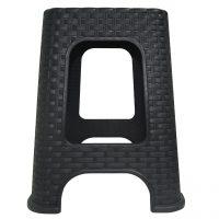 scaun imitatie ratan negru 1