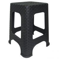 scaun imitatie ratan negru 2