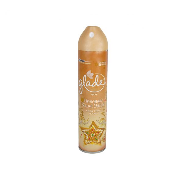 Glade Spray Aerosol Odorizant camera Biscuit Delight, 300 ml  din categoria Odorizante camera si dezumidificatoare