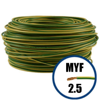 Cablu / Conductor electric MYF 2.5 mmp, galben-verde, H07V-K, 100M  din categoria Menaj si Uz Casnic