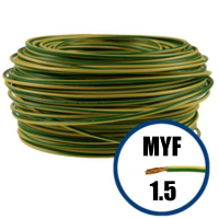 Cablu / Conductor electric MYF 1.5 mmp, galben-verde, H07V-K, 100M  din categoria Conductori electrici
