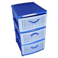 dulap depozitare plastic 3 sertare pentru bucatarie baie jucarii imagine 2