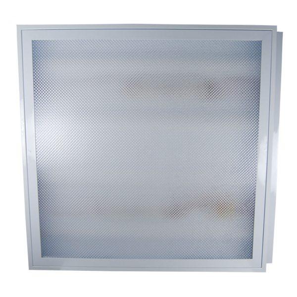 NOVElite Corp neon 4x18 incastrat IP40, 4 neoane incluse, 60x60cm, alb