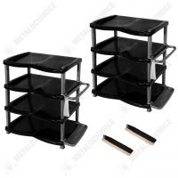 Pachet (4 produse) Rafturi incaltaminte cu 4 etaje din plastic cu 2 perii pantofi cadou  din categoria Diverse mobilier