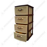 Dulap plastic cu 4 sertare, model ratan  din categoria Diverse mobilier
