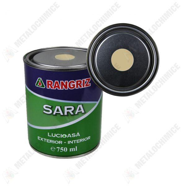 rangriz sara vopsea lucioasa pentru lemn pereti interior crem 750 ml 1