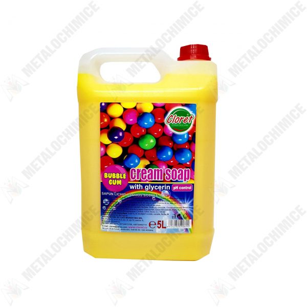 Cloret Sapun lichid 5l cu glicerina Bubble Gum 1
