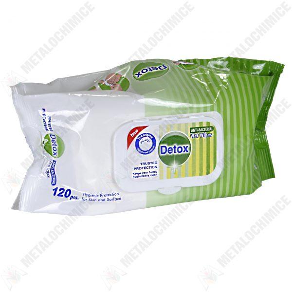 Detox Servetele umede antibacteriene 120buc.