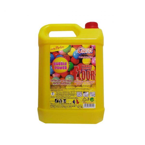 cloret floor detergent pardoseala bubble gum 5 l 1