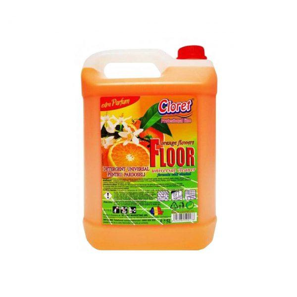 cloret floor detergent pentru pardoseli portocale 5 l 1