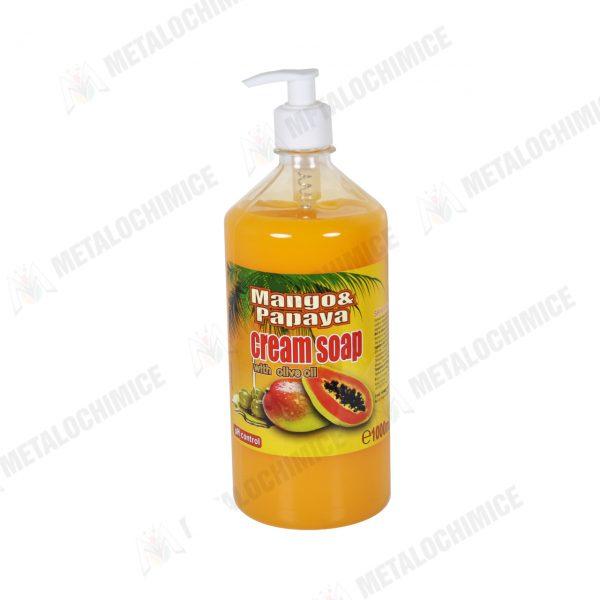 Cloret Sapun lichid crema 1l cu pompita Mango si Papaya