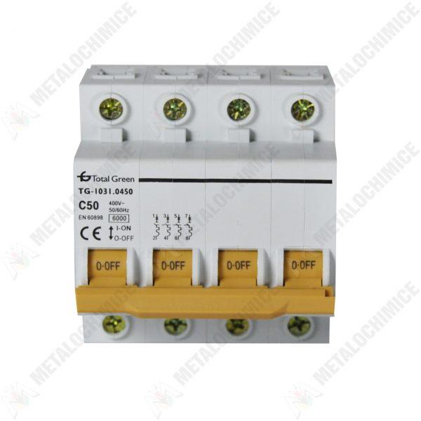 Total Green Siguranta electrica automata tetrapolara 50A 4P 1