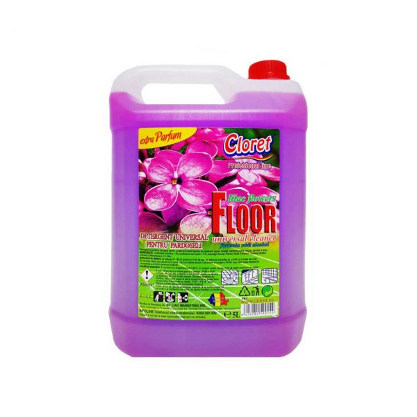 cloret detergent pardoseli cu extra parfum de liliac 5l 1