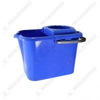 galeata cu storcator si roti 10 l litri albastra 1