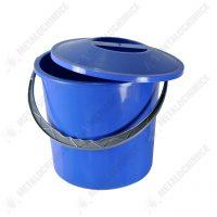 galeata plastic cu capac 10 l litri albastra 1