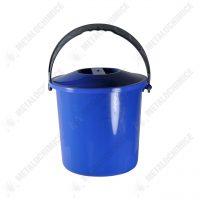 galeata plastic cu capac 10 l litri albastra 2