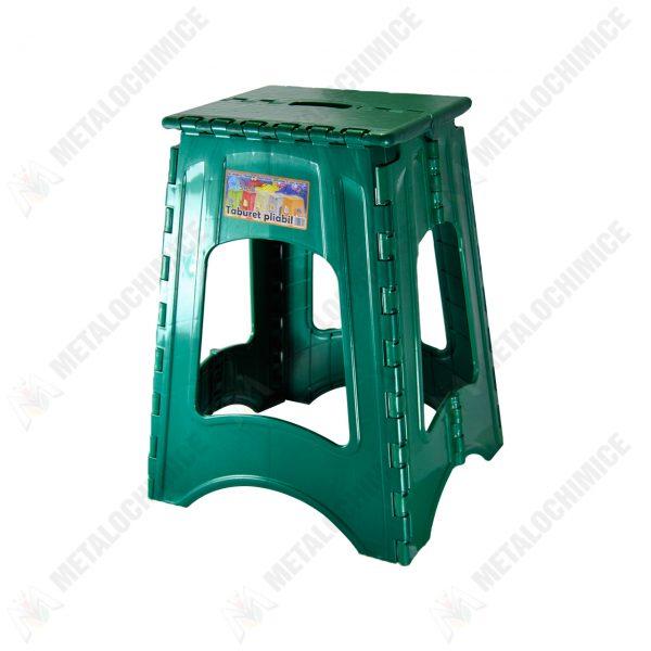 scaun pliabil plastic verde 1