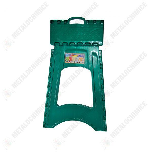 scaun pliabil plastic verde 2