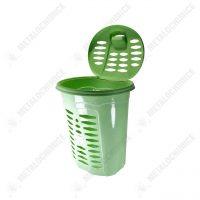 cos de rufe plastic dreptunghiular cu capac verde 1