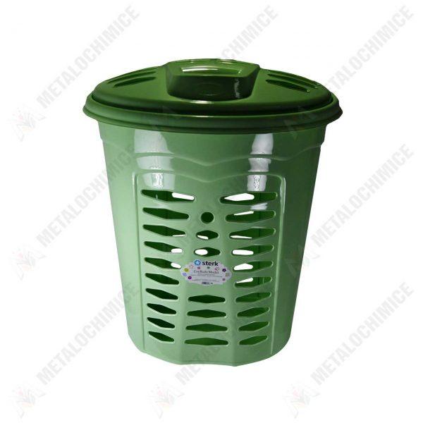 cos de rufe plastic dreptunghiular cu capac verde 2