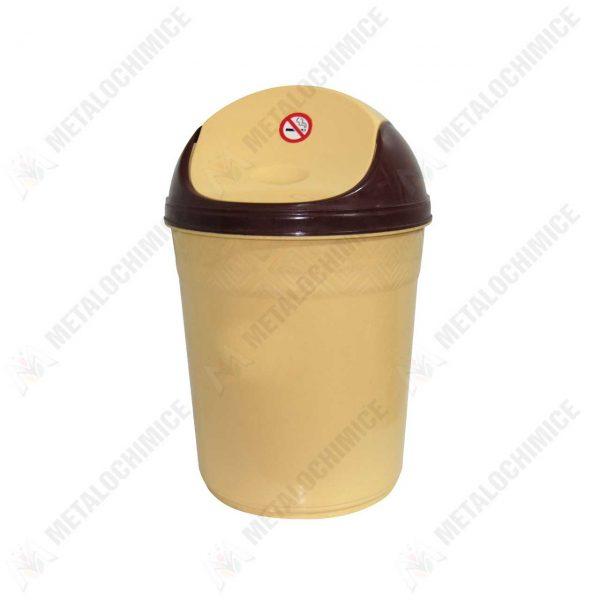 cos pentru gunoi din plastic 20l cu capac batant 1
