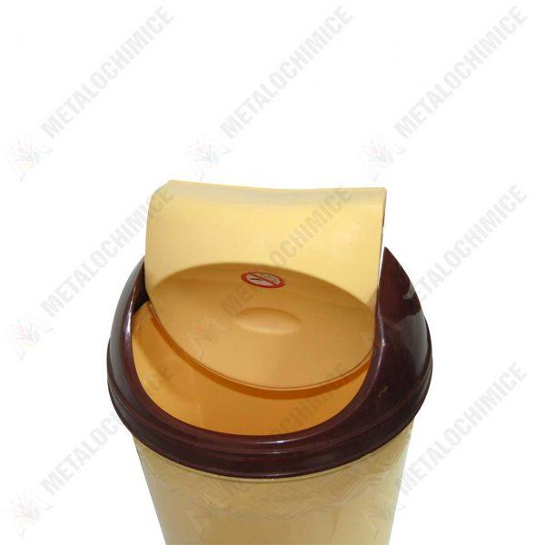 cos pentru gunoi din plastic 20l cu capac batant 2
