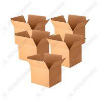 cutie carton depozitare 5 straturi 66x49x49 cm 5 bucati