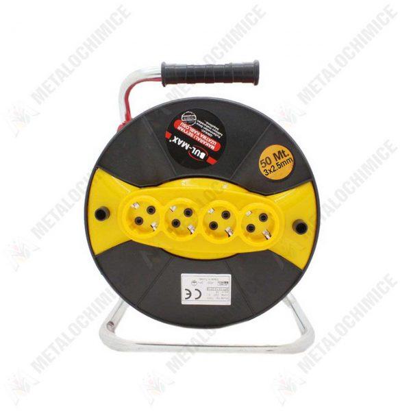 prelungitor electric pe tambur 50m 3x2 5 mm 1