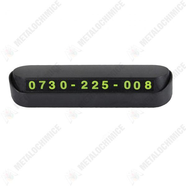 suport numar telefon parbriz auto negru 3
