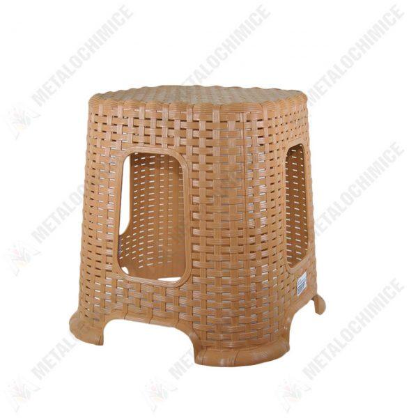 taburet plastic crem tip rattan 1
