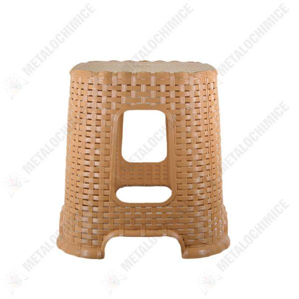 taburet plastic crem tip rattan 2