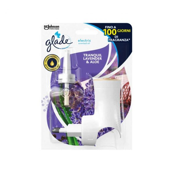 glade aparat electric cu rezerva tranquil lavender and aloe 20 ml