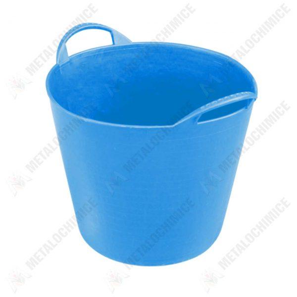 Cos flexibil din cauciuc 42 litri albastru