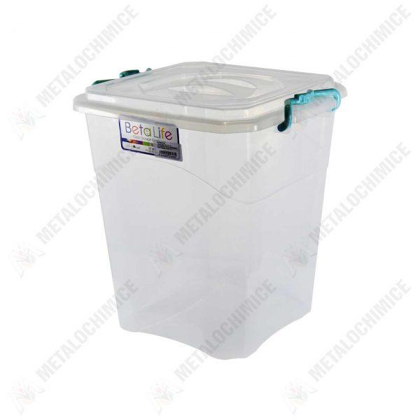 cutie alimentara alimente din plastic cu capac 15 litri