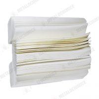 prosoape hartie pliate tip z albe 200buc set 2