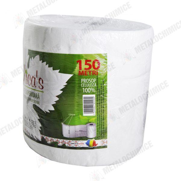 prosoape hartie de bucatarie rola 2 straturi 150 m 2