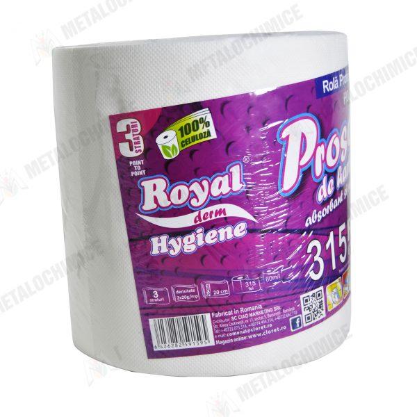 royal prosoape de hartie 100 celuloza 3 straturi 60m 2