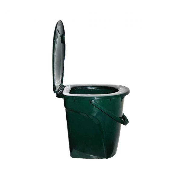 galeata wc toaleta din plastic cu capac 24 l 1