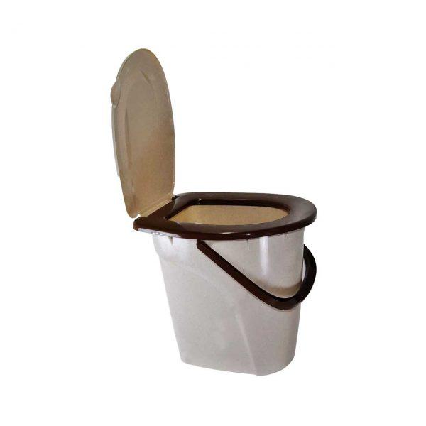 galeata wc toaleta din plastic cu capac 24 l 2