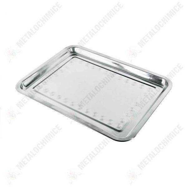 tava pentru servit din metal dreptunghiulara 45 x 35 cm