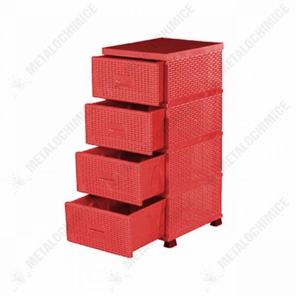 sterk-dulap-universal-4-sertare-plastic-ratan-rosu-1