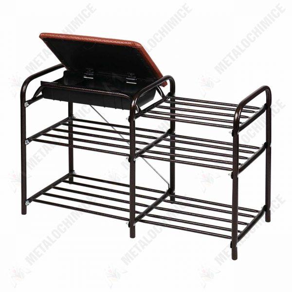 organizator incaltaminte metalic cu sertar 3 etaje 2