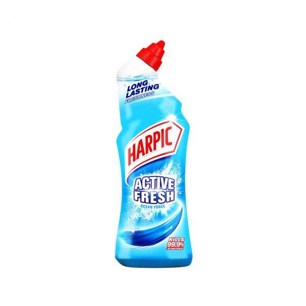 harpic wc active fresh ocean force dezinfectant toaleta 750 ml