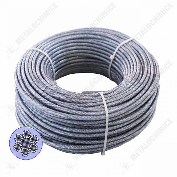 cablu otel sufa otel 6mm 100 m 1